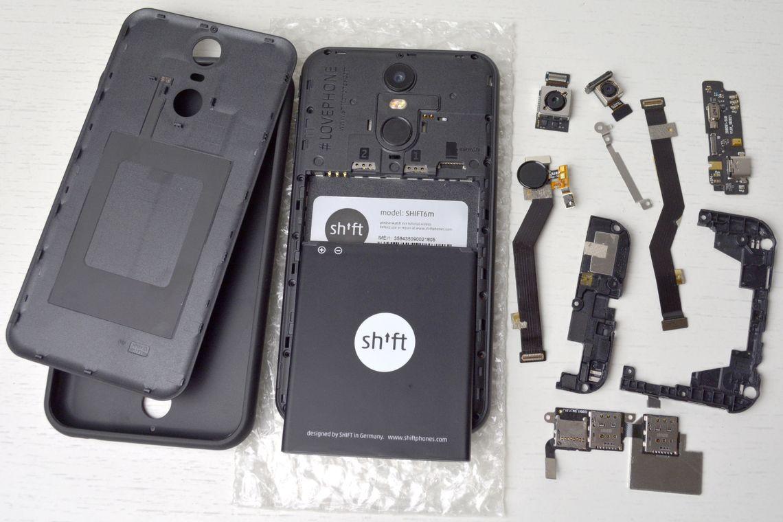 Shift-Phone mit Modulen