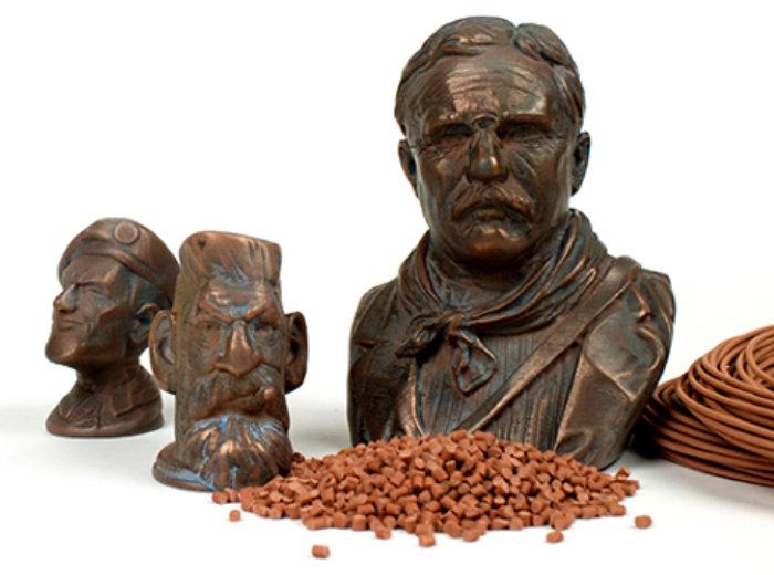 Figuren Kupfer 3D-gedruckt