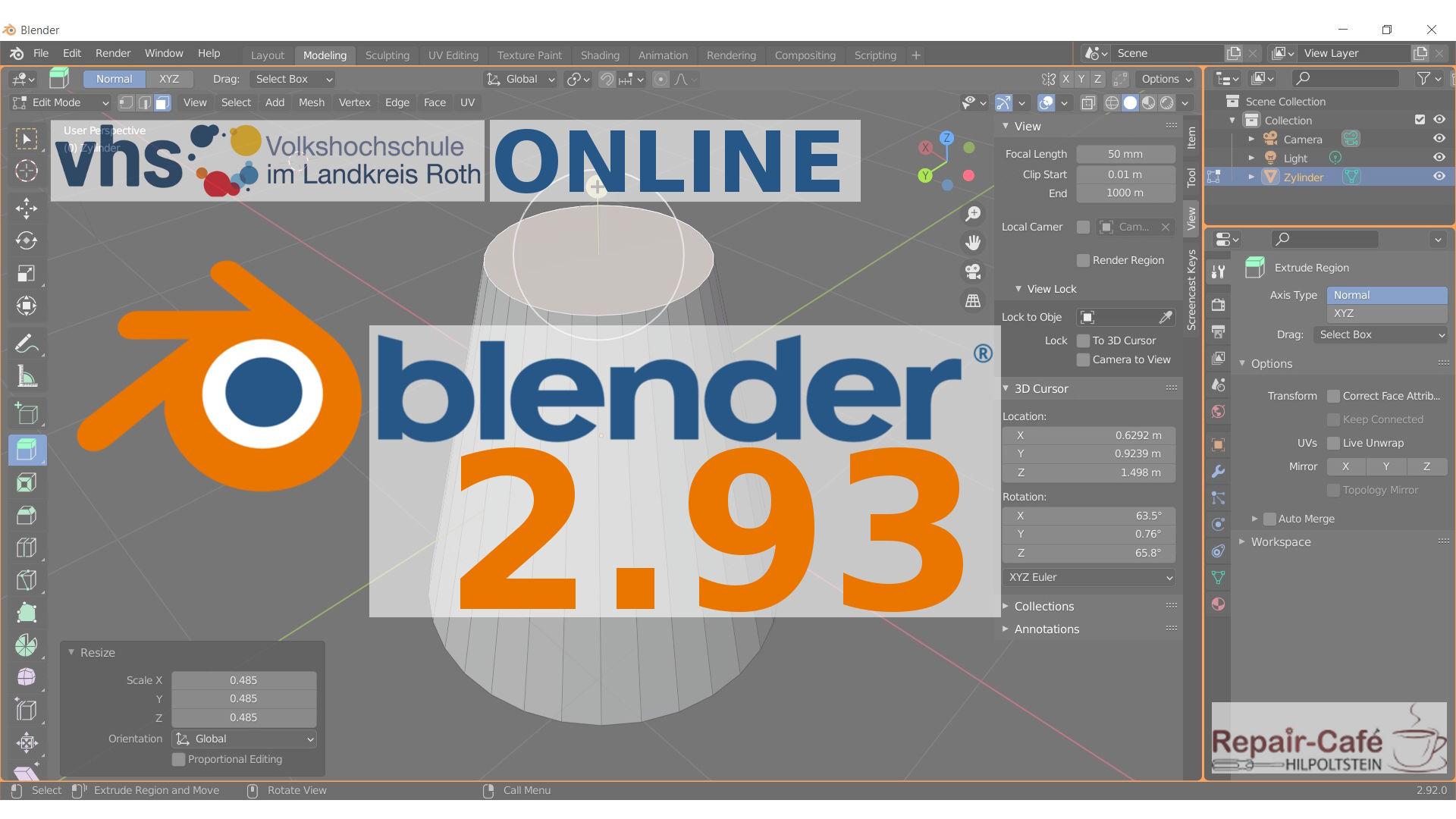 Blender-Kurs VHS Lkr. Roth Version 2.93